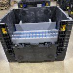 Returnable Packaging Foam and plastic in Bulk Bin