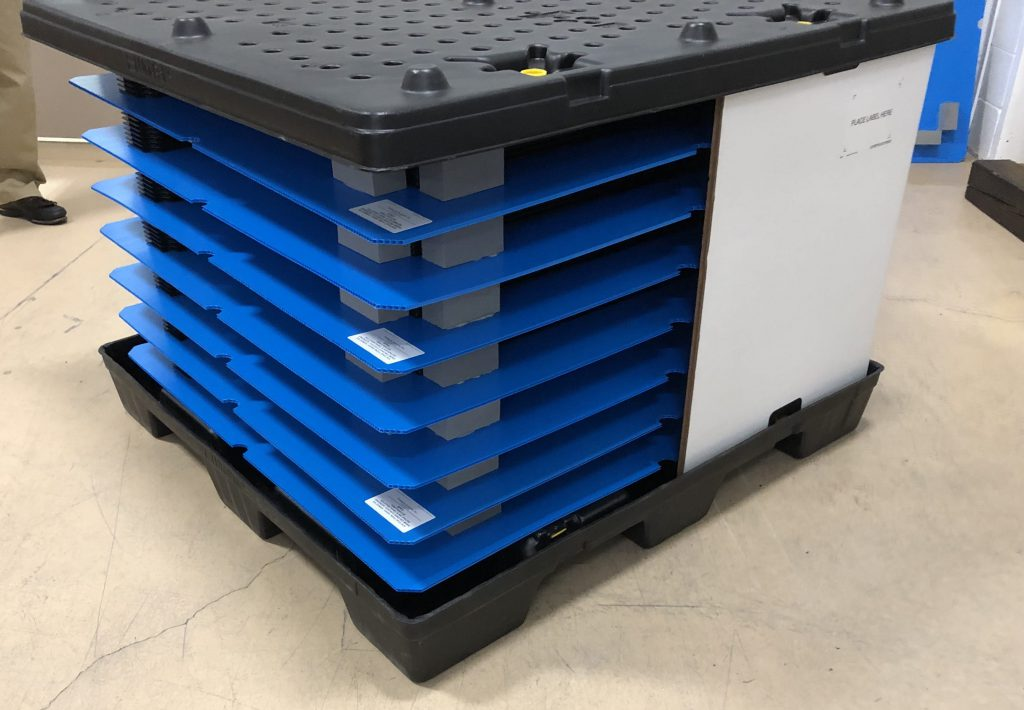 Returnable Packaging Kitted Dunnage in Uni Paks