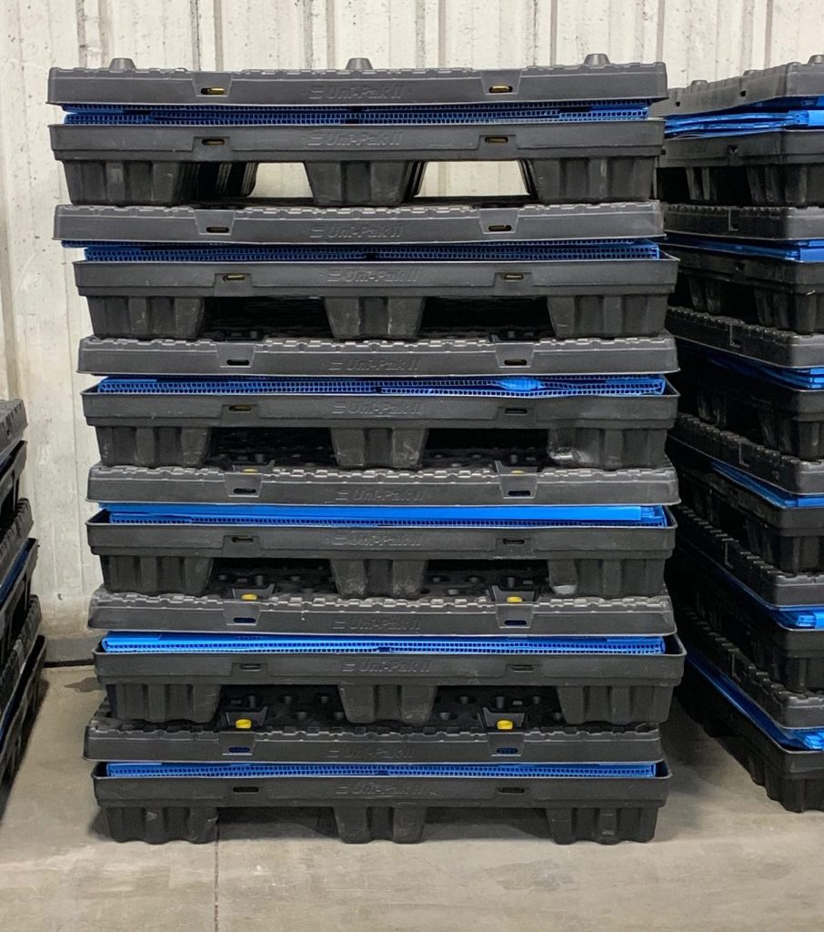 Returnable Packaging Uni Paks Kitted Stacked